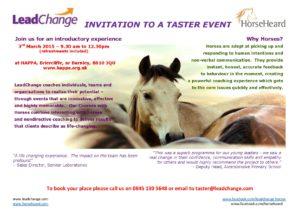 Invitation to a taster event @ HAPPA | Briercliffe | United Kingdom